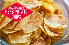 Microwave Herb Potato Chips Recipe via @SparkPeople