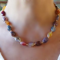 Hey, I found this really awesome Etsy listing at https://www.etsy.com/listing/182854366/necklace-agate-necklace