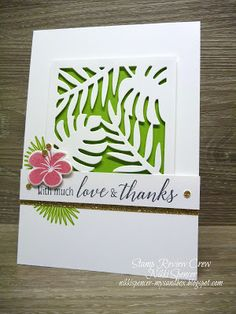 Nikki Spencer-My Sandbox: Stamp Review Crew...Tropical Chic! #stampinup