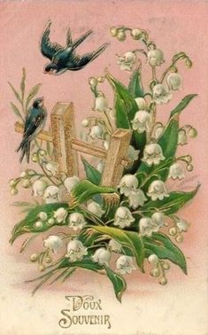 Lily of the Valley and birds