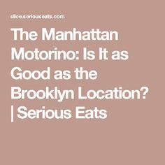 The Manhattan Motorino: Is It as Good as the Brooklyn Location?