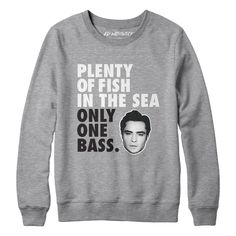 """Ed Westwick's """"Plenty of Fish In The Sea. Only One Bass"""" Tee 