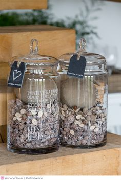 Rivièra Maison herfst/winter 2016 Rivera Maison, Coffee Bars In Kitchen, Outdoor Bathrooms, Coffee Wine, Bottles And Jars, Glass Containers, Jar Storage, Diy And Crafts, Sweet Home
