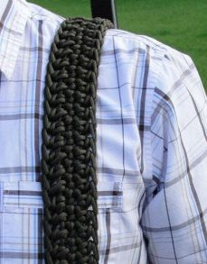 550 paracord camera strap/rifle sling 80 feet of 550 lb test parachute cord that is conveniently braided until you need it. I want this because of reasons.