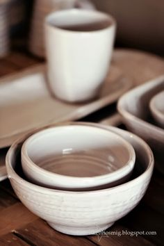 White stoneware