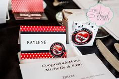 Printable ROCKABILLY Wedding Tent Labels or Place Cards on Etsy, $10.00