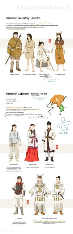 Glimja& Hanbok Story 1 about prehistoric clothing and Gojoseon. & ⓒ Glimja Korean Traditional Clothes, Traditional Fashion, Traditional Dresses, Korean Hanbok, Korean Dress, Korean Outfits, Korean Fashion Trends, Asian Fashion, Fashion History