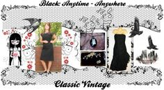 """Black for all Seasons"" by thejewelseeker-1 ❤ liked on Polyvore"
