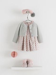 Looks. Young Fashion, Little Girl Fashion, Kids Fashion, Outfits Niños, Kids Outfits, Little Girl Outfits, Toddler Outfits, Baby Girl Dresses, Baby Dress