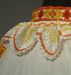 RARE Slovak Folk Costume Embroidery Blouse Lace Apron Pleated Skirt Cicmany Kroj   eBay