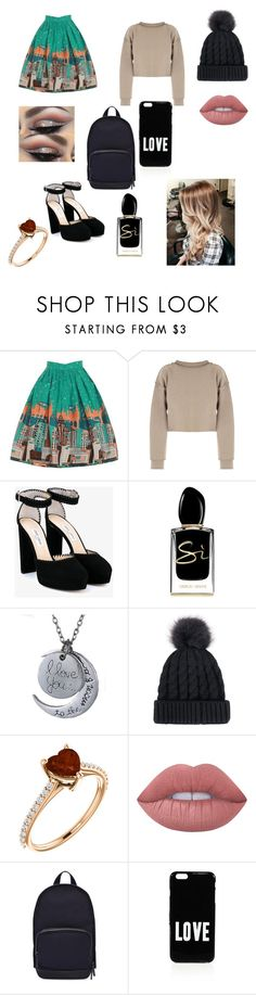 """""""Untitled #6"""" by gabrielagabi-i ❤ liked on Polyvore featuring beauty, My Mum Made It, Jimmy Choo, Giorgio Armani, Lime Crime, Haerfest and Givenchy"""