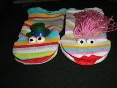 Mis cositas de manualidades: Marionetas calcetín