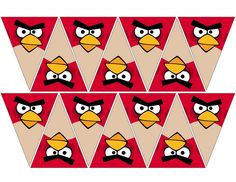 free to use & free to share Angry Birt, Bird Party, Bird Theme, Animation, Banner, Birds, Red, Party Ideas, Banner Stands