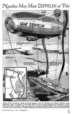 Nautilus may meet Graf Zeppelin D-LZ-127 at pole..1931 ... most amazing rendezvous! | Flickr - Photo Sharing!