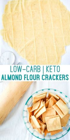 Low Carb Almond Flour Crackers - Keto Diet Tips Ketogenic Recipes, Low Carb Recipes, Diet Recipes, Ketogenic Supplements, Vegan Recipes, Delicious Recipes, Crockpot Recipes, Desserts Keto, Keto Snacks