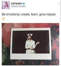 New Mel tweet, she's so sweet! - #melaniemartinez #crybaby #littlebodybigheart