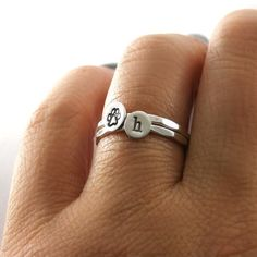 Hey, I found this really awesome Etsy listing at https://www.etsy.com/listing/202241970/paw-print-rings-custom-initial-paw-print