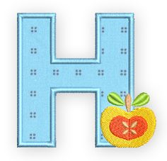Collect the H - Free Cooking Embroidery Alphabet from BERNINA