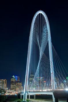 Margaret Hunt Hill bridge in downtown Dallas, USA