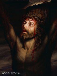 Pictures of jesus on cross - 644 images Catholic Art, Religious Art, Paintings Of Christ, Religion, Jesus Art, Jesus Christ Statue, The Cross Of Christ, Biblical Art, Christian Wall Art