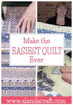The Easiest Quilt Ever - Perfect for beginners - quilting for beginners - If you've never made a quilt before, you are going to love this. Super easy and quick quilt pattern. No binding needed. Diy Quilting For Beginners, Beginner Quilt Patterns, Quilting Tips, Quilting Tutorials, Quilting Projects, Quilting Patterns, Easy Baby Quilt Patterns, Simple Quilt Pattern, Dress Patterns