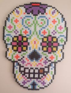Day of the dead sugar skull door MadebyBlackSheep op Etsy