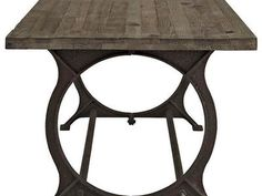 Fashioned with a cast iron base and solid pine wood top. 76L x 35.5W x 30H. This sells for double the price at Pottery Barn.  Come see why Utah loves sacs furniture.   We Finance! (NO CREDIT CHECK NEEDED) LINK: https://portal.gosimplefinance.com/customer/leases/new?location_id=528D7A  Sacs Furniture  2212 S West Temple  SLC Utah 84115 Unit 42 Office Number:801-330-6420 Open Monday-Friday 10:00 AM - 7:00 PM Open Saturday 9:00-7:00 Open Sunday 12:00 PM - 5:00 PM C...