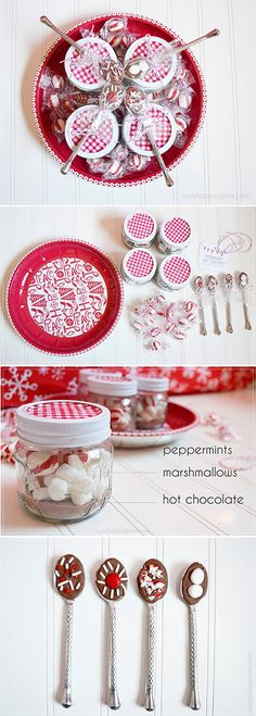 Mini Mason Jar Hot Cocoa Gift Idea. Full Step-by-Step Tutorial. Sweet gift idea for neighbors, friends and teachers.
