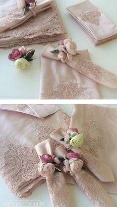 Sweet idea for making pretty napkin rings! :)