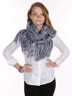 Fashion Jewelry Christmas Gift Ideas Scarf Two Color Knit Neckwarmer Tassel 23 12 Inch Long X 21 12 Inch Wide 100% Acrylic One Size