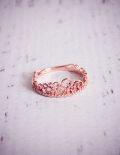 Princess Crown - Rose Gold Diamond Ring