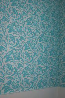 DIY Fabric Wallpaper, fabric wallpaper tutorial or fabric wall decalls using cornstarch