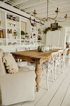 A Cozy Fall Kitchen Corner Farmhouse Dining Room Table, Dinning Room Tables, Dining Room Design, Rustic Dining Rooms, Dinning Room Ideas, Simple Dining Table, Porch Table, Modern Farmhouse Table, Farmhouse Office