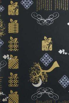 Sinterklaaspapier, Sint luxe, Zie de maan schijnt 50cm x 250mtr, Kadopapier