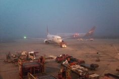 Fog shrouds planes at Perth domestic airport  Submitted by: Alex Hyeman ABC  11/07/2012