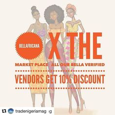 The sweetest deal going down at the 3rd Edition of the Market pop up on 7th August. Go ahead and get #bellafricanaverified if you want to enjoy a 10%discount and reserve your slot @themarketplace_ng  #Repost @themarketplace_ng with @repostapp  ARE YOU BELLAFRICANA VERIFIED? Then you're entitled to 10% discount. Contact @bell_africana for your Code!  THEMARKETPLACE X BELLAFRICA WE ARE NOW BOOKING!  themarketplacepopup@gmail.com #bellafricanaverified #bellafricana #TheMarketplace…
