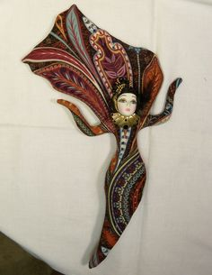 Goddess Genevieve cloth art doll form w/face cab 13in tall Ooak One-of-a-kind U finish it KIT. $29.99, via Etsy.