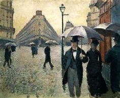 Gustave Caillebotte - Rue de Paris, jour de pluie (étude)
