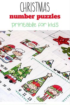 Christmas Puzzle, Christmas Math, Christmas Activities For Kids, Craft Activities For Kids, Christmas Time, Counting Games, Skip Counting, Primary Activities, Kindergarten Activities