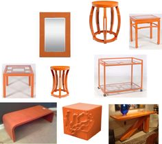 An orange side table in a future office ;) haha