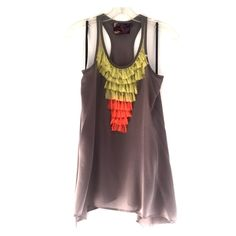 Forever 21 || Razor Back Tank Tunic from Forever 21's upscale Twelve by Twelve Los Angeles. Cute when paired with shorts or jeans/leggings. 100% silk. Forever 21 Tops Tank Tops