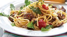 """Rezept für Römische Spaghettata """"Straccetti con Rughetta"""""""