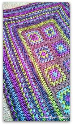 Beatrice Ryan Designs Crochet-A-Long Week 7 Crochet 101, Manta Crochet, Love Crochet, Beautiful Crochet, Crochet Yarn, Knitting Yarn, Gorgeous Grannies, Crochet Ideas, Afghan Crochet Patterns
