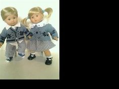 Blue Gingham Set For Bitty Twins - Blue Gingham Sweater Set