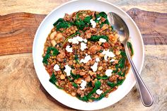 Tasty Kitchen Blog: Chorizo Lentil Soup. Guest post by Georgia Pellegrini, recipe submitted by TK member Heather Disarro of Heathers Dish.