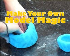 The only downside to Model Magic is that it's a bit on the pricey side. That is one reason why we are so excited about this homemade recipe. How To Make Magic, Magic For Kids, Camping Crafts For Kids, Kid Crafts, Cabin Crafts, Family Crafts, Kids Diy, Easy Crafts, Steam Activities