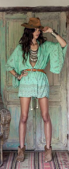 Boho Chic | Purely Inspiration http://shop.spelldesigns.com/collections/kimonos/products/skull-tribe-kimono-turquoise