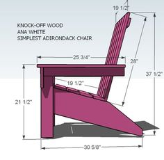 I want to make this! DIY Furniture Plan from Ana-White.com Finally, an Adirondack Chair that is easy to build and stylish and comfortable! This do it yourself project plan to build a DIY adirondack chair is simple, and easy. Inspired by polywood furniture, build your own affordable adirondack chair. Special thanks to Amy for sharing her photos.