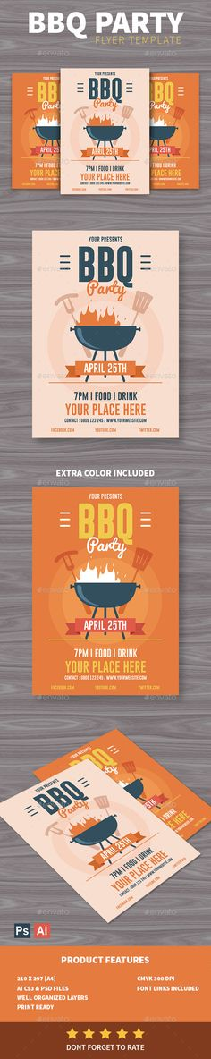 Garden Party Flyer Template By Thats Design Store On
