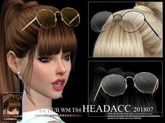 Headacc FM 201807 by S-Club from TSR for The Sims 4 – # 201807 - teen clothing Sims 4 Tsr, Sims Cc, Los Sims 4 Mods, The Sims 4 Cabelos, Pelo Sims, Die Sims, The Sims 4 Pc, Sims4 Clothes, Sims 4 Dresses